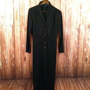 Vintage size M black Jumpsuit Pantsuit one piece